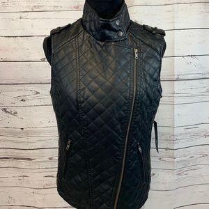 Apt. 9 Faux Leather Vest Medium NWT